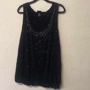 Black sparkly sleeveless